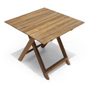 Bay Isle Home Pedersen Folding Teak Squar..