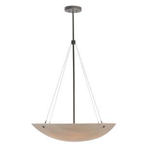 Meyda Tiffany Cypola Alabaster 6-Light Bowl Pendant