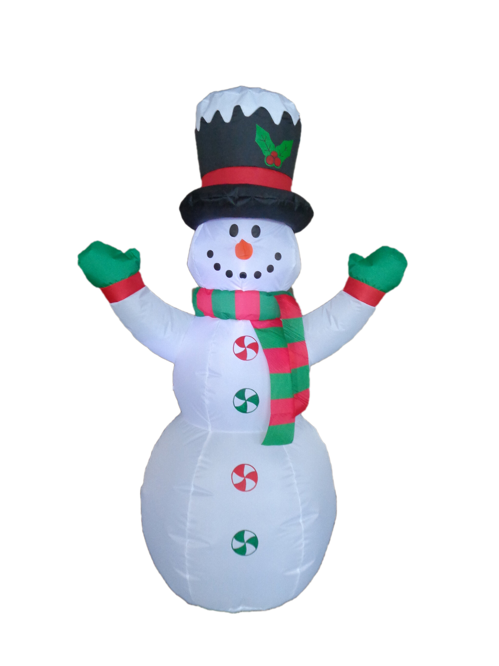 The Holiday Aisle Christmas Inflatable Snowman with Hat and Scarf ...