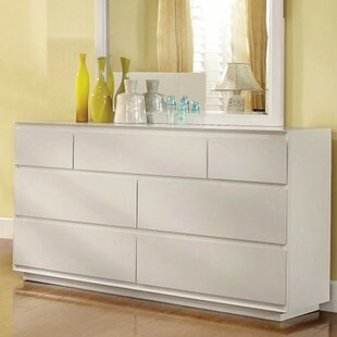 Orren Ellis Rymer Luxe7 Drawer Double Dresser