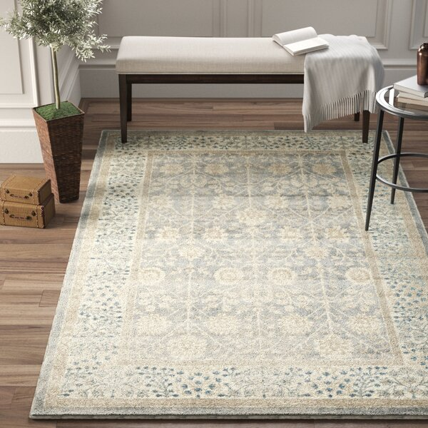 Beachcrest Home Icarus Oriental Gray Ivory Light Blue Area Rug Reviews Wayfair