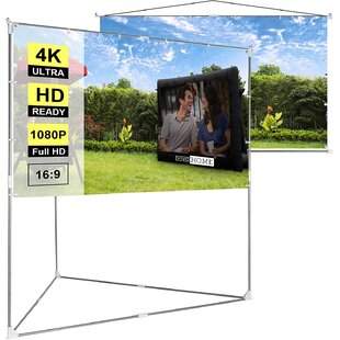 White 65 x 87 Portable Folding Frame Projector Screen