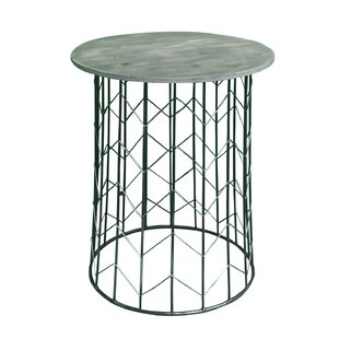 Pflugerville Chevron Metal End Table (Set of 2)