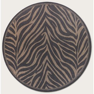 Sawtelle Black Indoor/Outdoor Area Rug by World Menagerie