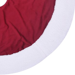 Santas Red And White Tree Skirt