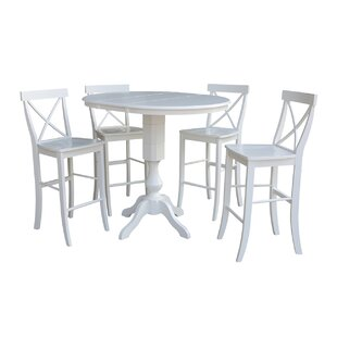 Sublett Extension 5 Piece Pub Table Set