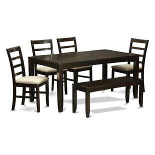 Lynfield 6 Piece Solid Wood Dining Set East West Furniture