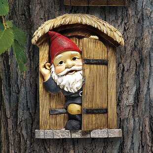 Knothole Door Gnome Garden Welcome Tree Wall Decor by Design Toscano