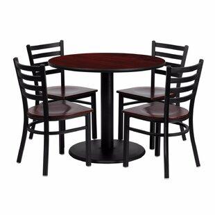 Haffner Round Laminate 5 Piece Dining Set by Ebern Designs