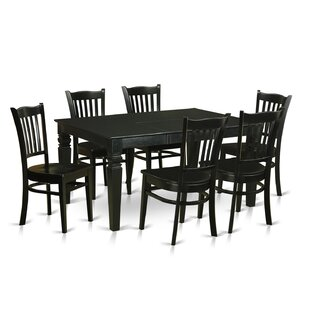 Weston 7 Piece Solid Wood Dining Set by W..