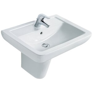 Belfry Bathroom 60 cm Halber Sockel Waschbecken Bacton