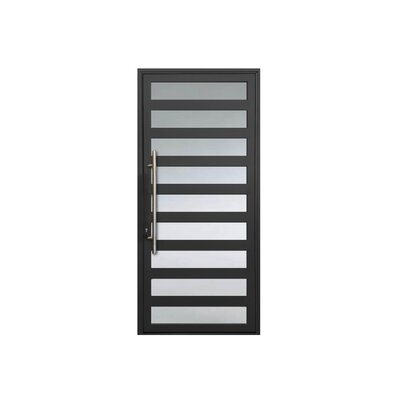 Maya Standard Jamb Finished Prehung Front Entry Door Cbwwindowsanddoors Finish Gray Door Size 80 H X 32 W X 263 D Door Handing Right Hand Ins