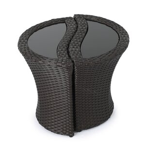 Nice Cherita Outdoor Wicker Seperable End Table