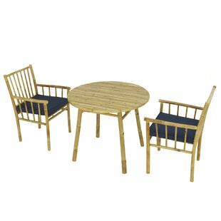 Kridia 3 Piece Bistro Set with Cushions