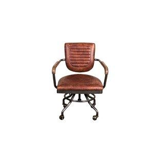 Deatsville Leather Desk Chair By Williston Forge