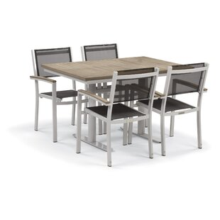 Latitude Run Farmington 5 Piece Teak Dining Set