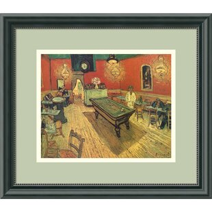 'Night Cafe with Pool Table' by Vincent Van Gogh Framed Painting Print ByAmanti Art