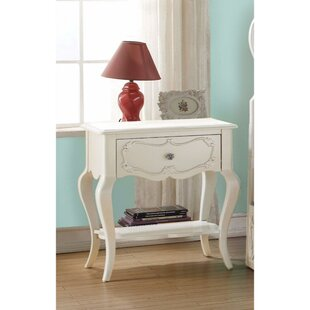 Hagberg Beautiful 1 Drawer Nightstand