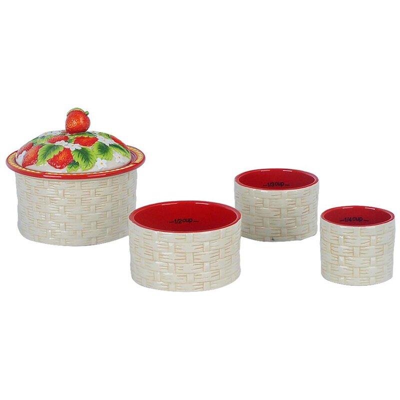 Temptations Temp Tations Figural Fruit Stacking 5 Piece Measuring Cup Set Wayfair