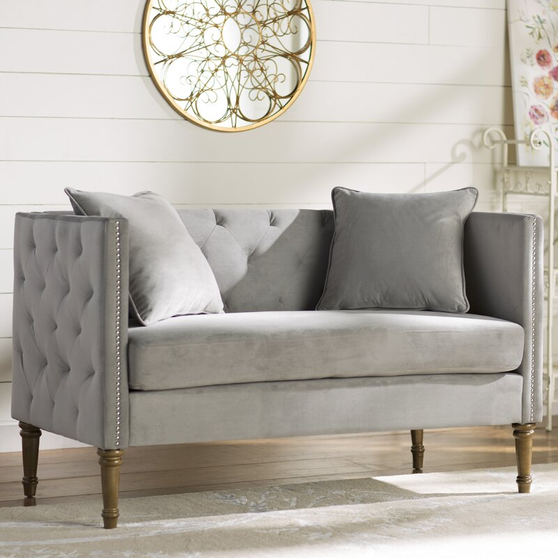 Settee In Living Room Part - 16: Vanves Tufted Chesterfield Settee