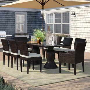 Stratford 9 Piece Dining Set with Cushions