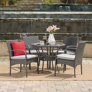 Emmeline 5 Piece Dining Set with Cushions