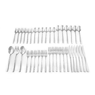 Arie 39 Piece 18/10 Stainless Steel Flatware Set, Service for 6