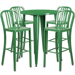 Posey 5 Piece Bar Height Dining Set by La..