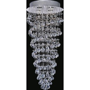 CWI Lighting Double Spiral 4-Light Flush Mount