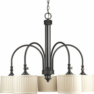 Gracie Oaks Cooley 5-Light Shaded Chandelier