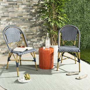 Stupendous Rahul Stacking Patio Dining Chair Set Of 2 Lamtechconsult Wood Chair Design Ideas Lamtechconsultcom