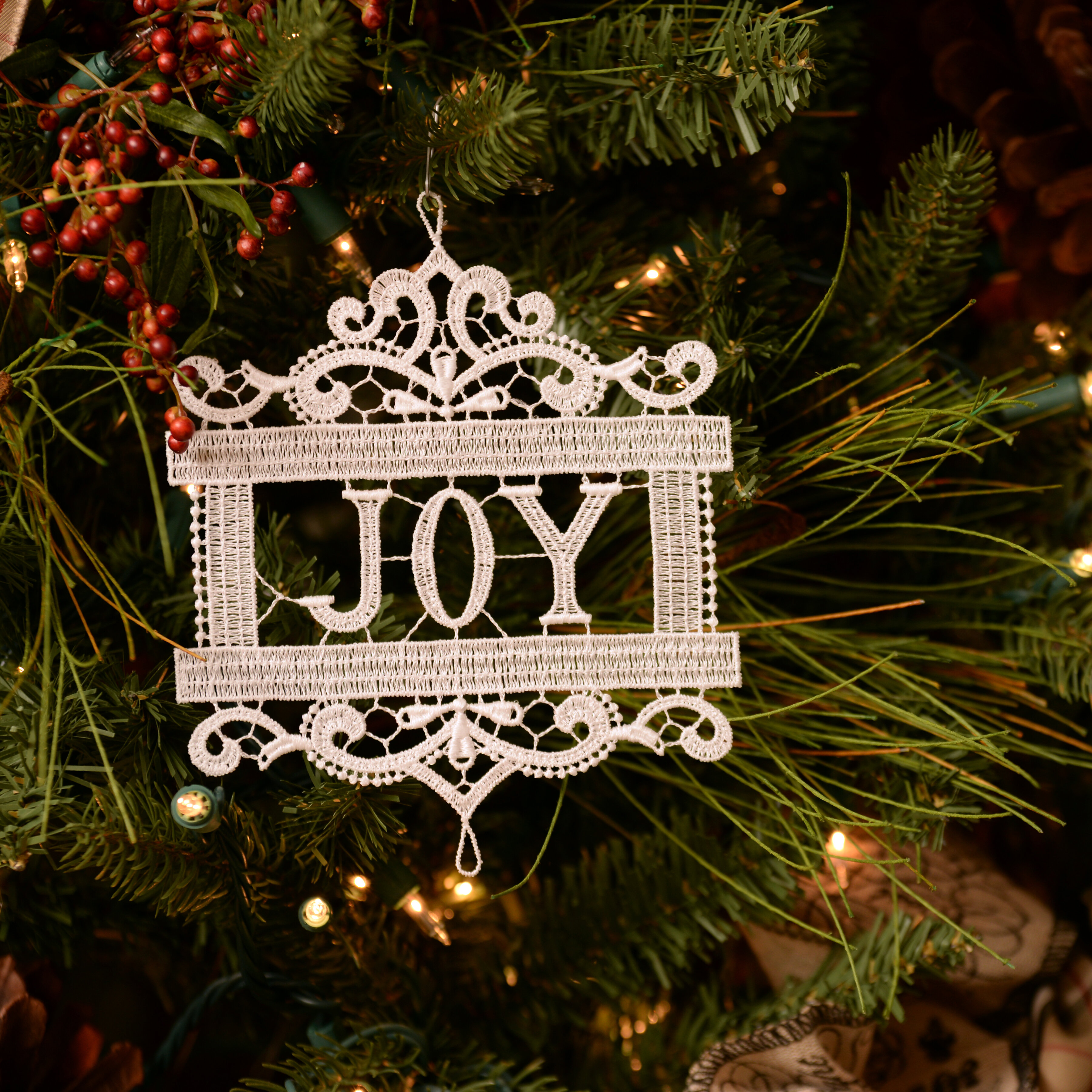 The Holiday Aisle Joy Holiday Shaped Ornament Wayfair