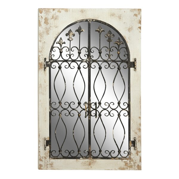 Wrought Iron And Wood Mirrors Wayfair