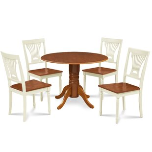 Remy 5 Piece Drop Leaf Solid Wood Dining Set Millwood Pines