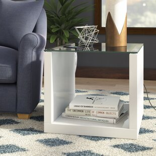 Best Price Merrill Glossy-Finish End Table By Wade Logan