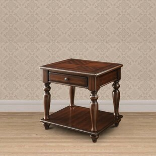 Blossom 1 Drawer and 1 Bottom Shelf Wooden End Table End Table with Storage by Alcott Hill