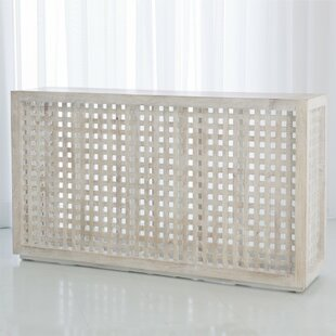Studio A Home Driftwood Lattice Console T..
