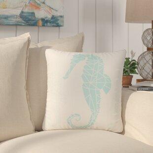 Almeida Geometric Seahorse Throw Pillow