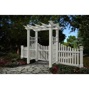New England Arbors Fairfield Deluxe Vinyl Arbor
