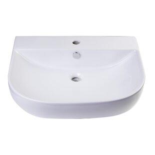 Read Reviews D-Bowl Metal 24 Wall Mount Bathroom Sink with Overflow ByAlfi Brand