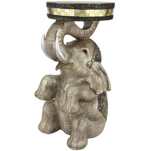 Sitting Elephant Statue by Oriental Furniture