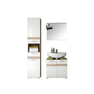 One 2 Piece Bathroom Storage Furniture Set With Mirror By Mercury Row