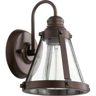 Douglass Circle Banded Cone 1-Light Armed Sconce by Breakwater Bay