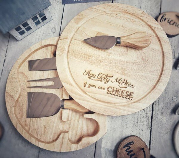 Happy Larry Tyler 5 Piece Engraved Cheese Board And Platter Set Reviews Wayfair Co Uk