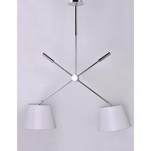 Wona 2-Light Pendant by Latitude Run