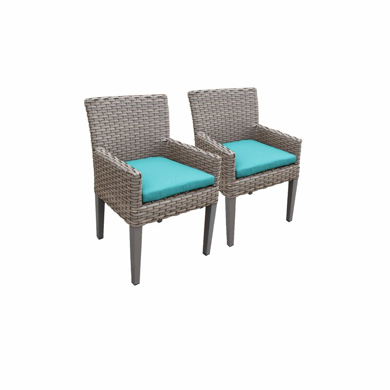 Sol 72 Outdoor  Rockport Patio Dining Chair with Cushion Cushion Color: Aruba