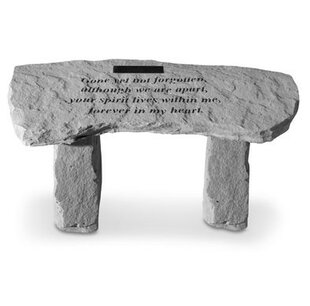 Gone Yet Not Stone Garden Bench by Kay Berry, Inc