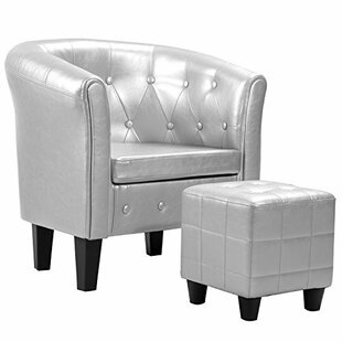 Mercer41 Wing Barrel Chair and Ottoman