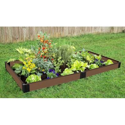 Good Ideas Garden Wizard 4 ft x 4 ft Plastic Raised Garden ... on