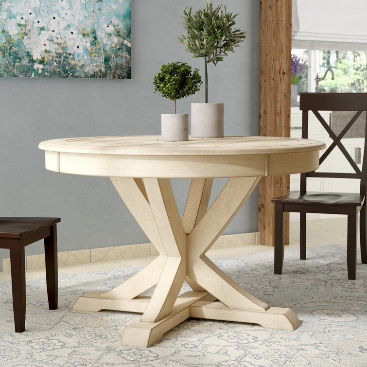 August Grove Fred 45 75 Pedestal Dining Table Reviews Wayfair